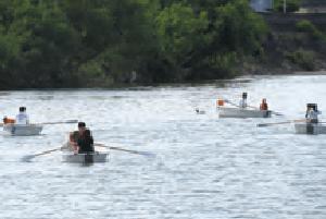 広瀬川 ボート